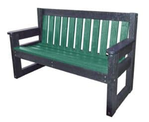TDP Bakewell Dale 1500mm Bench with Green Slats