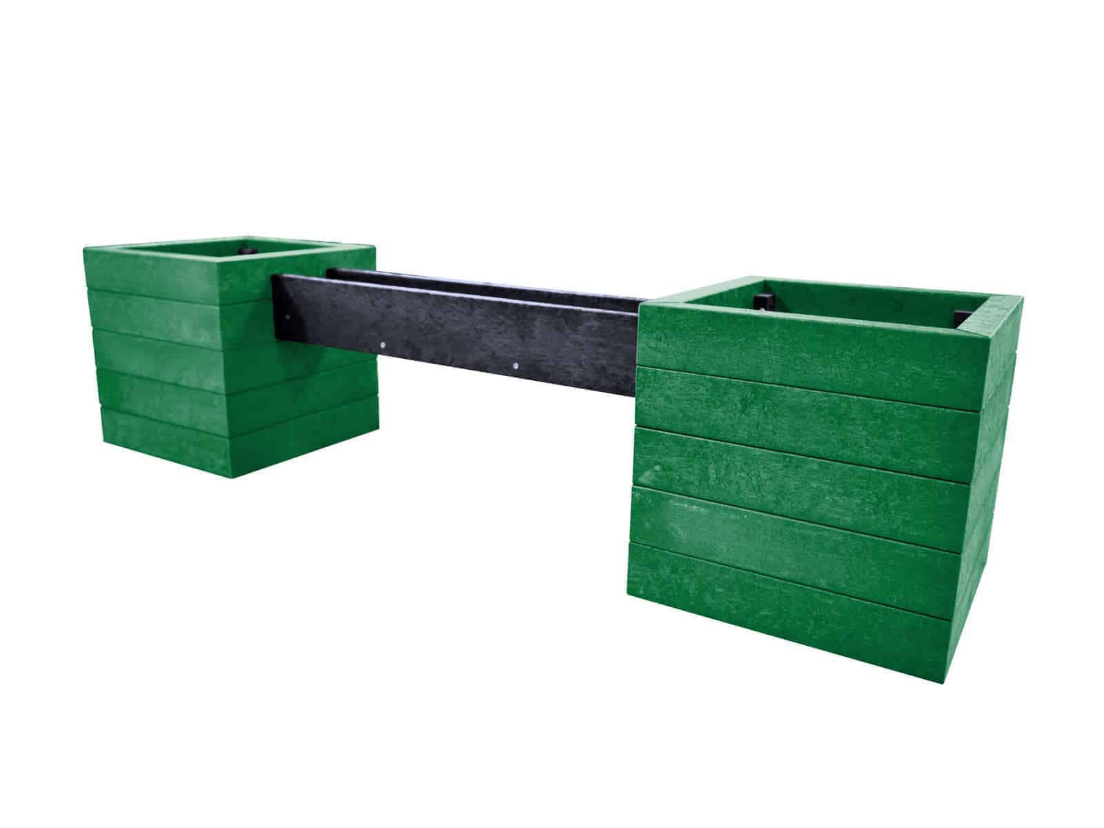 TDP Flagg Planters with Trough Made From Recycled Plastic Waste