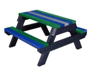 Macaw Childrens Picnic Table made from recycled plastic