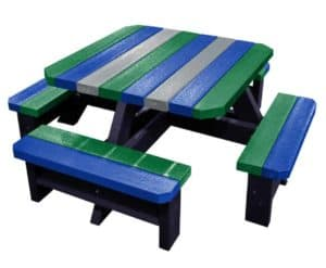 Parrot Coloured Picnic Table For Infants