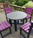 Recycled Plastic Garden Table & Chair Set