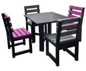 TDP's Cromford Hope garden dining set for 4, made from recycled plastic waste