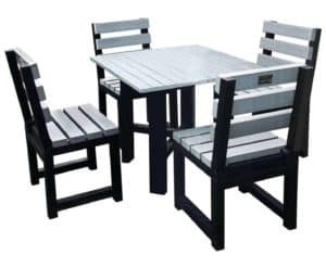 TDP's Cromford Hope Garden Dining set with Urban grey table top and seat slats