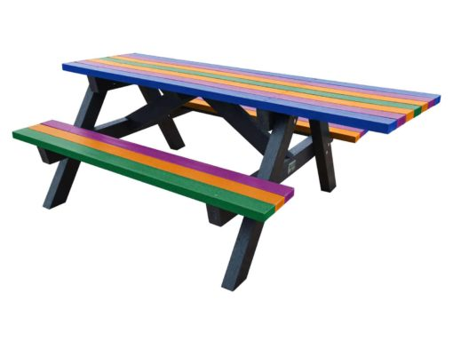 Tansley Wheelchair Access Picnic Table Multi Coloured
