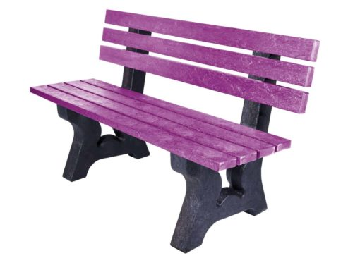 TDP's Coloured 3 Seater Peak Bench Made from Recycled Plastic