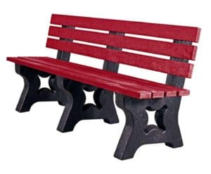 TDP's Coloured 4 Seater Peak Bench Made from Recycled Plastic